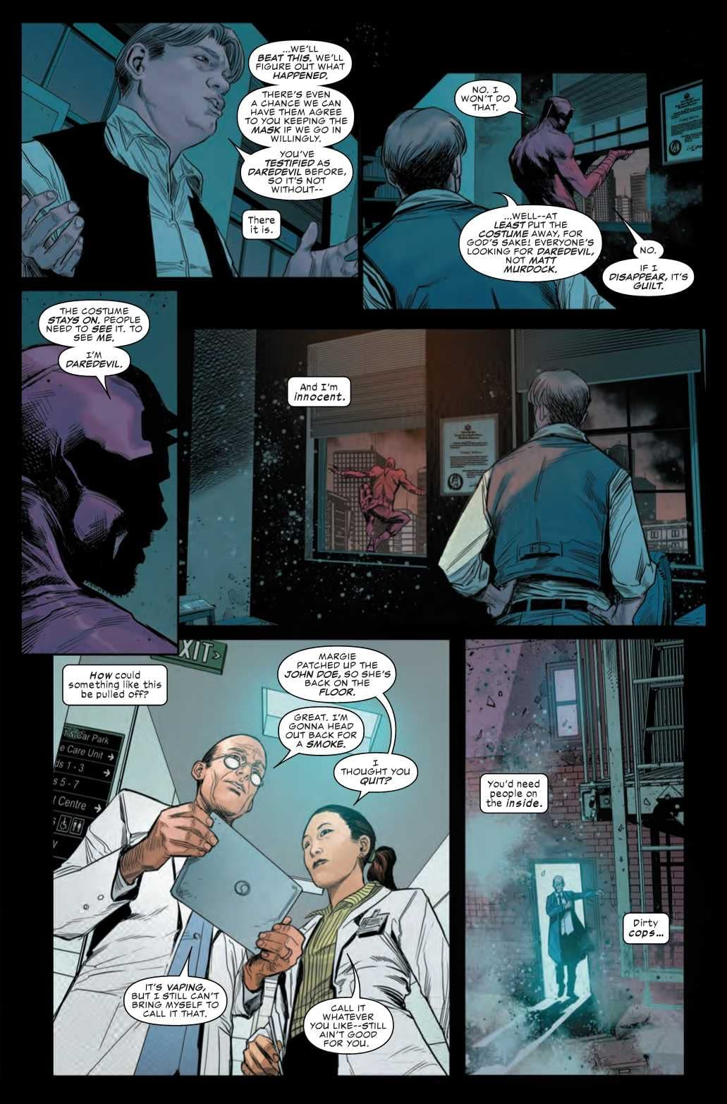 Next Week's Daredevil #2 Tries to Bring Smoking Back to Marvel Comics