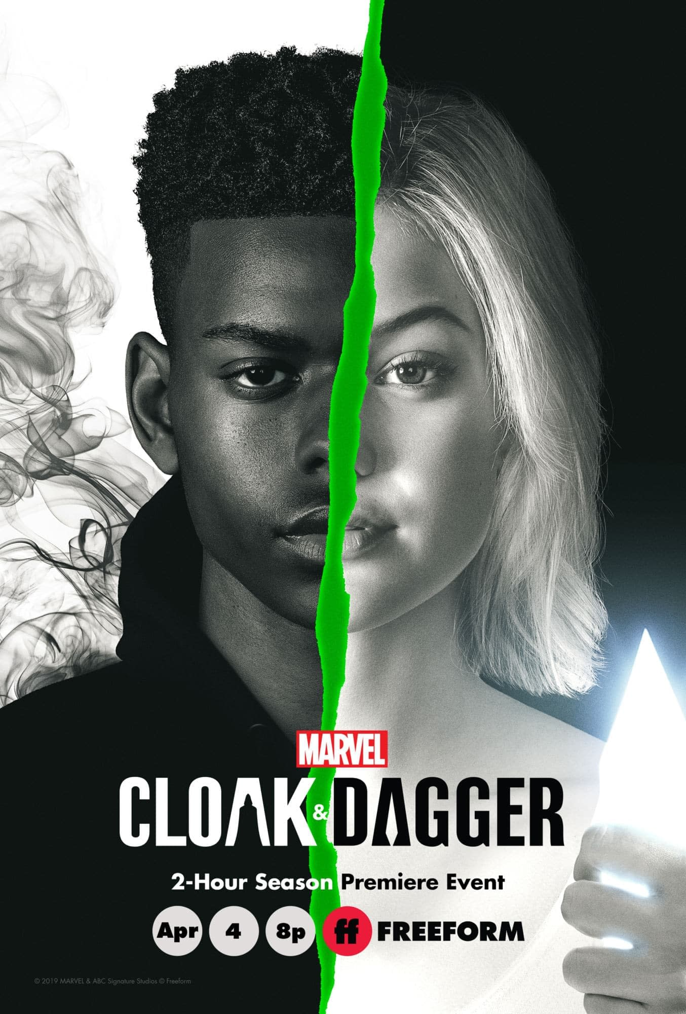 'Marvel's Cloak & Dagger' Season 2 Gets 2-Hour April Premiere; Poster Released