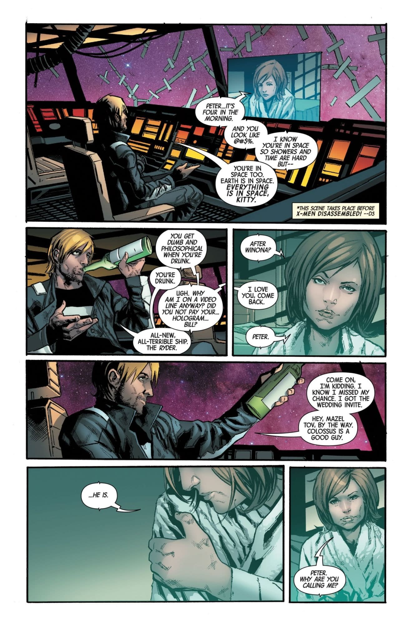 Drunk Dialing Kitty Pryde at 4AM in Next Week's Guardians of the Galaxy #2 (Preview)