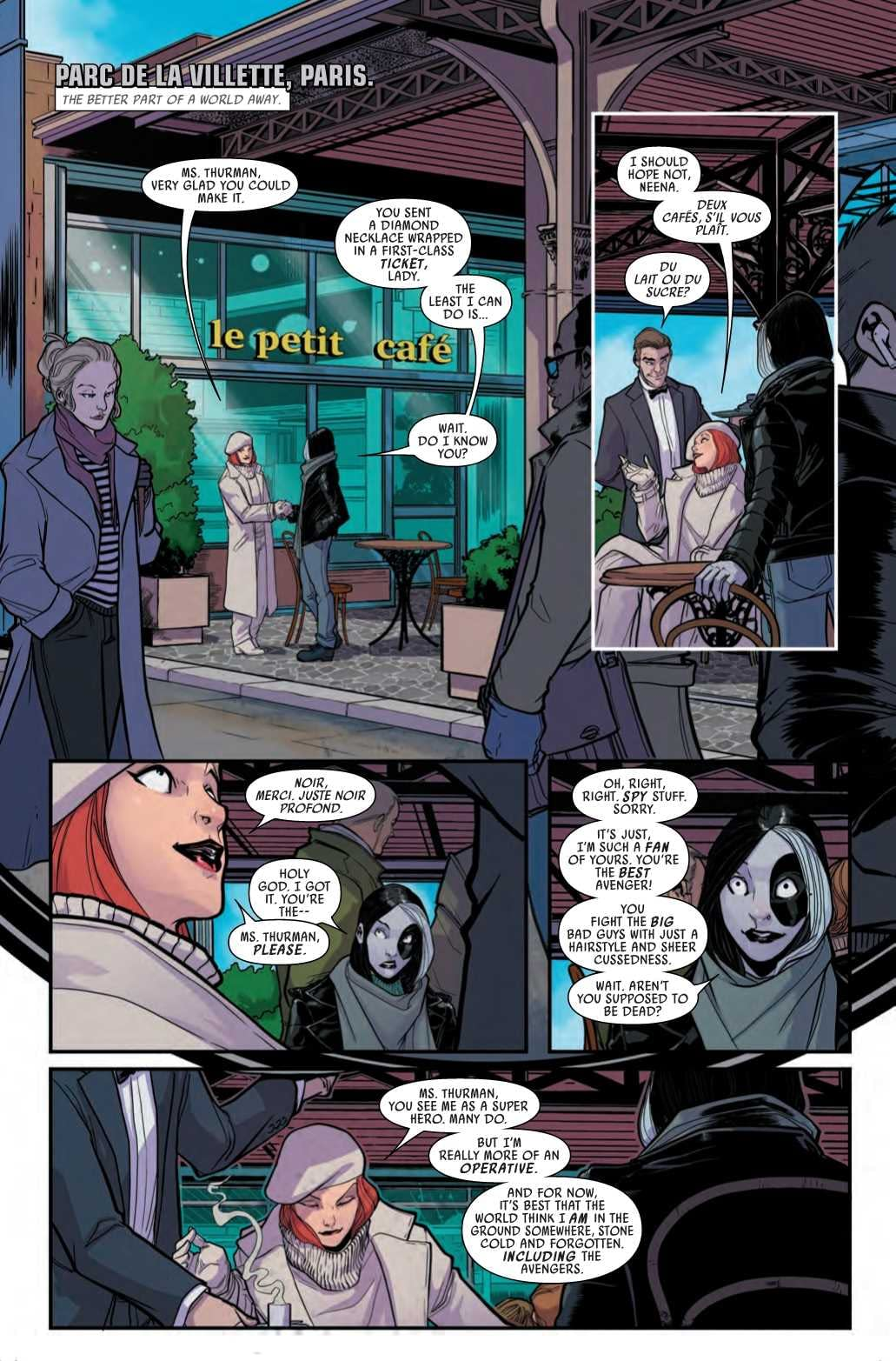 Domino Fangirls Out Over the Black Widow in Next Week's Hotshots #1
