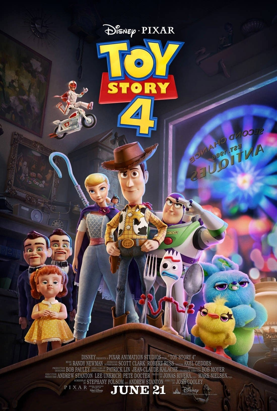 """'Toy Story 4': Official Trailer Finds Woody Facing a """"Forky"""" in the Road"""