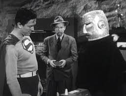 Atom Man's weird helmet