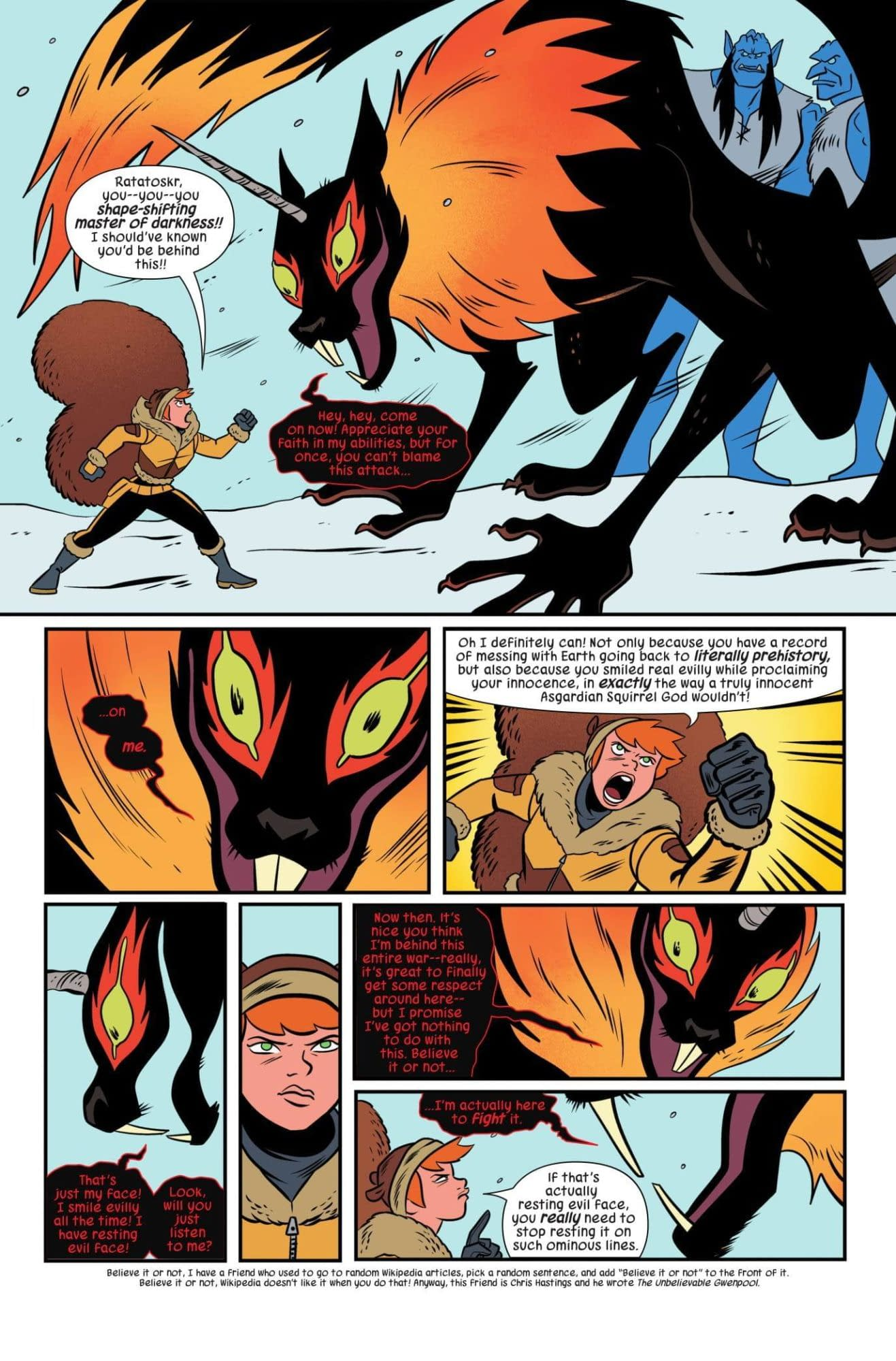 See a Hot Frost Giant Make-Out Session in This Preview of Unbeatable Squirrel Girl #44