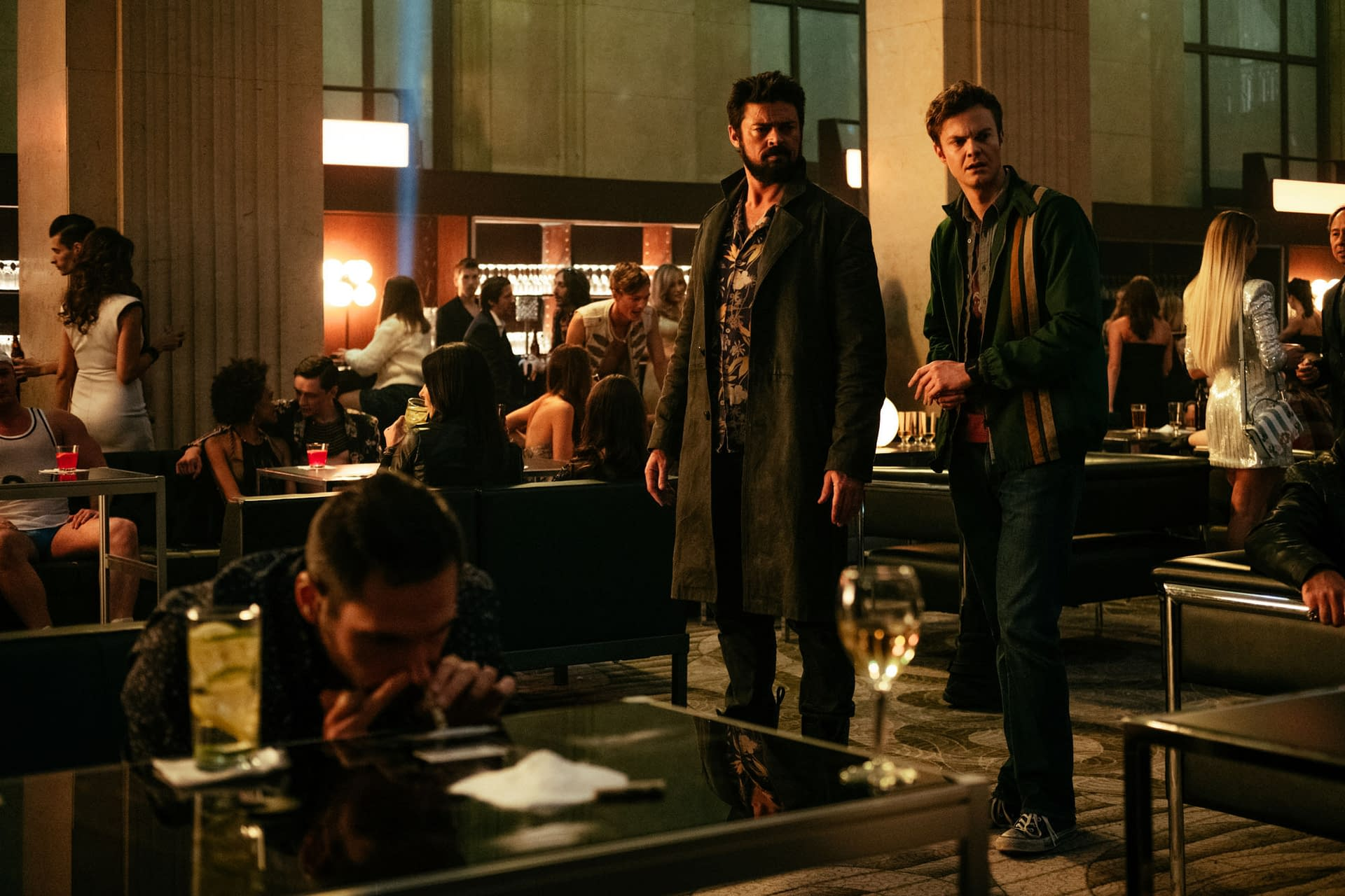 """The Boys"" Season 2: Karl Urban, Jack Quaid & Tomer Capon Offer Well-Hydrated, One-Finger Salute [IMAGE]"