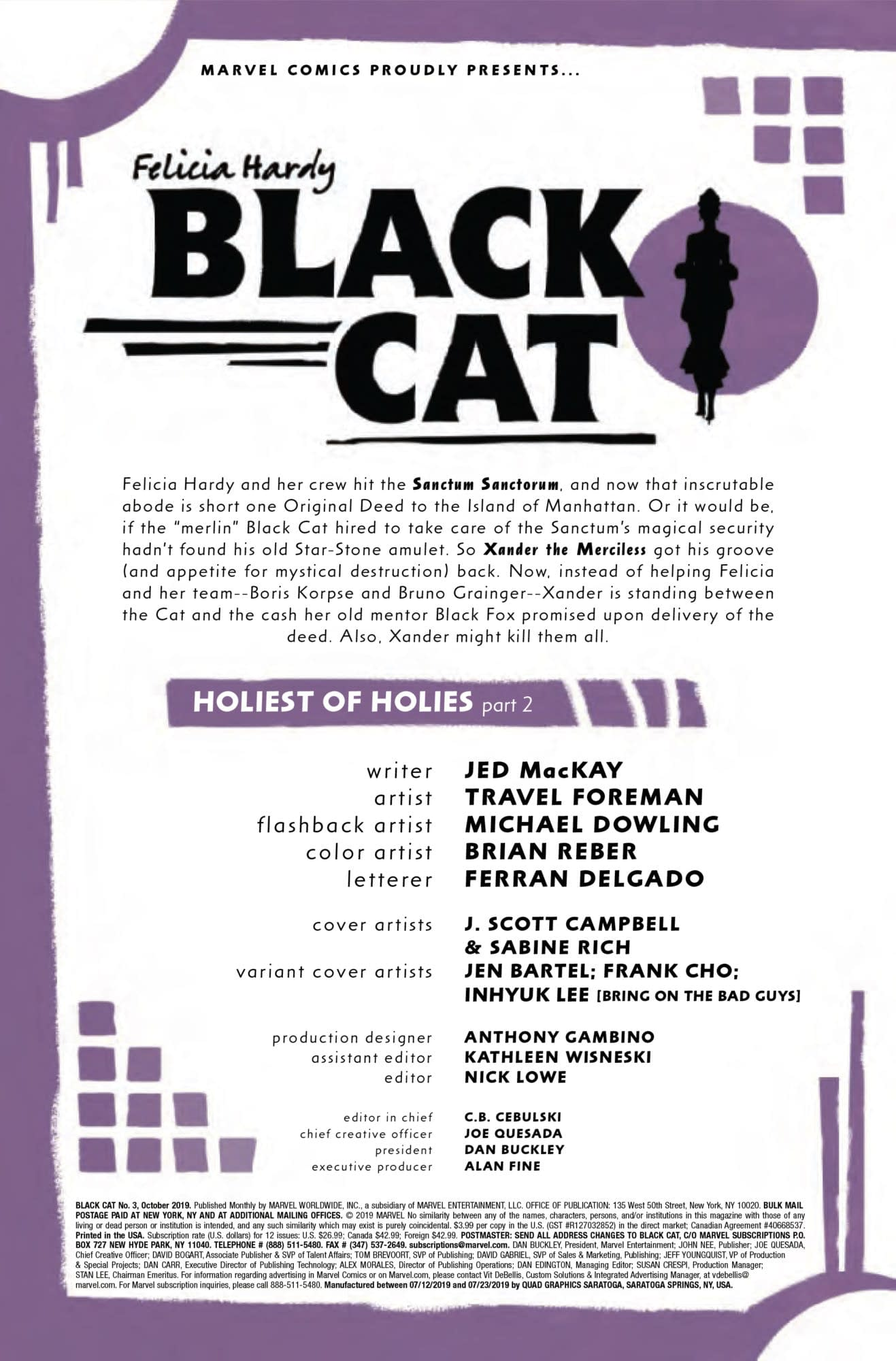 A Case of Mistaken Identity in Black Cat #3 [Preview]