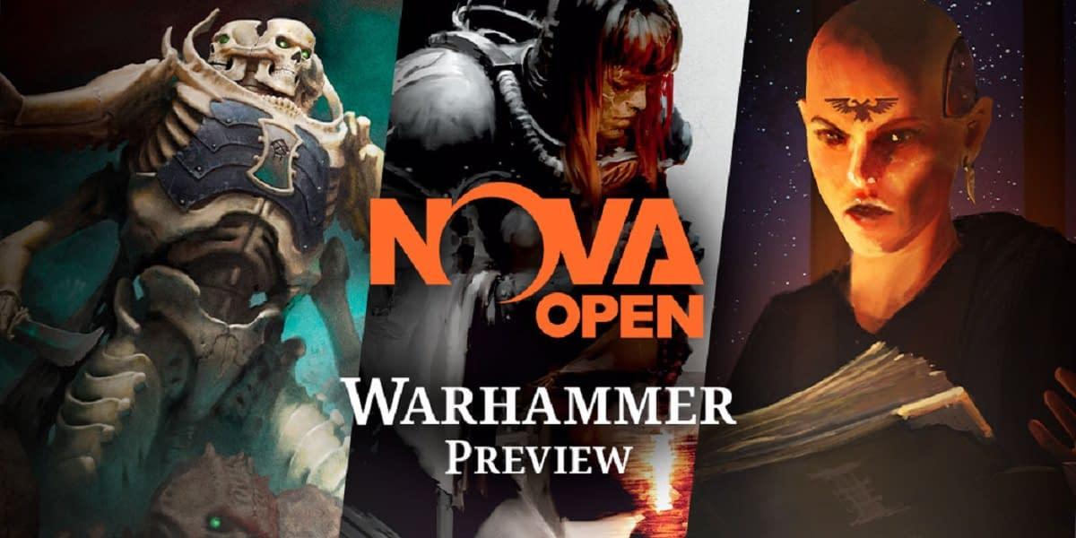 NOVA Open banner for games workshop