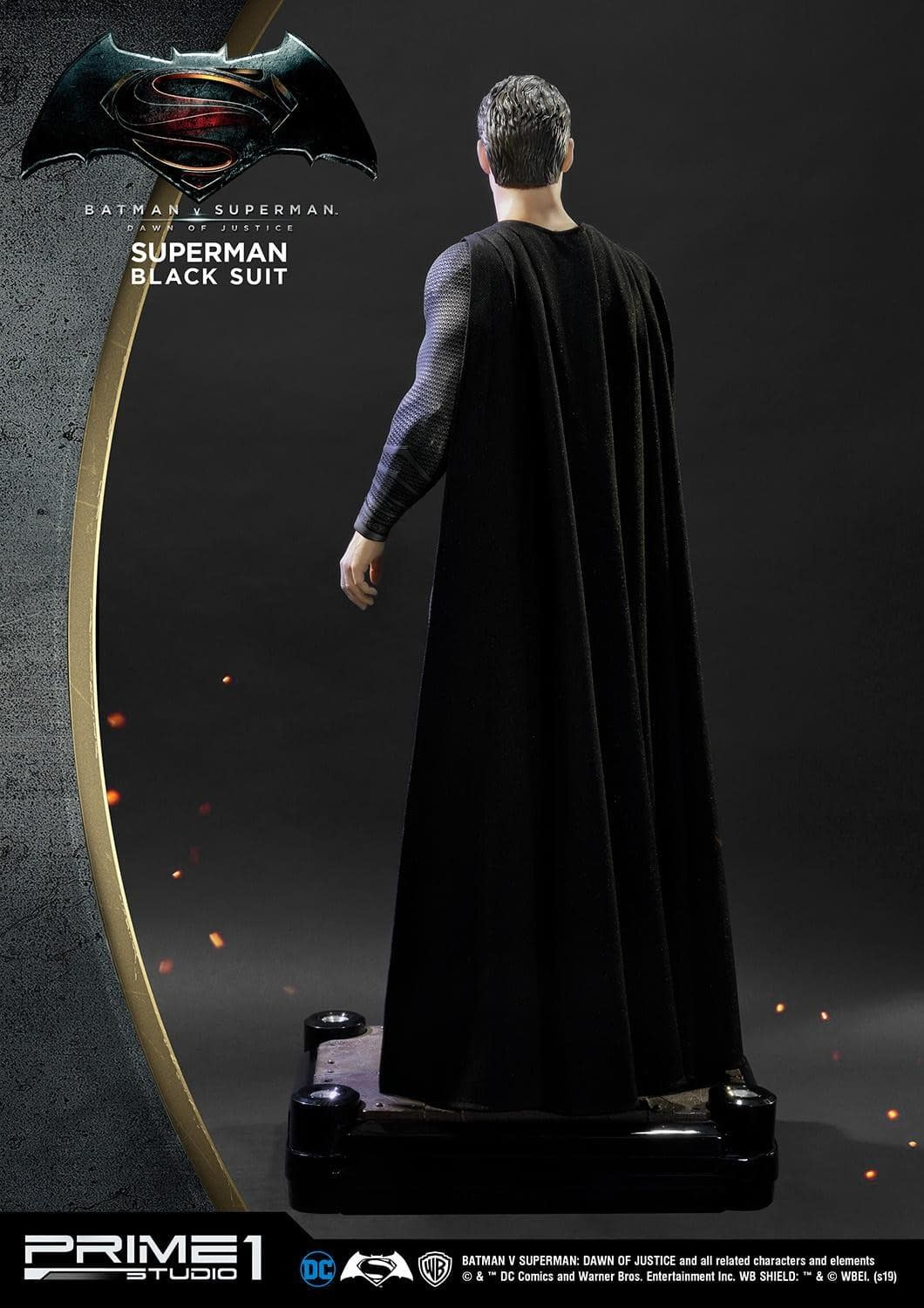 Superman Dons His Black Suit for Pricey Prime 1 Studios Statue