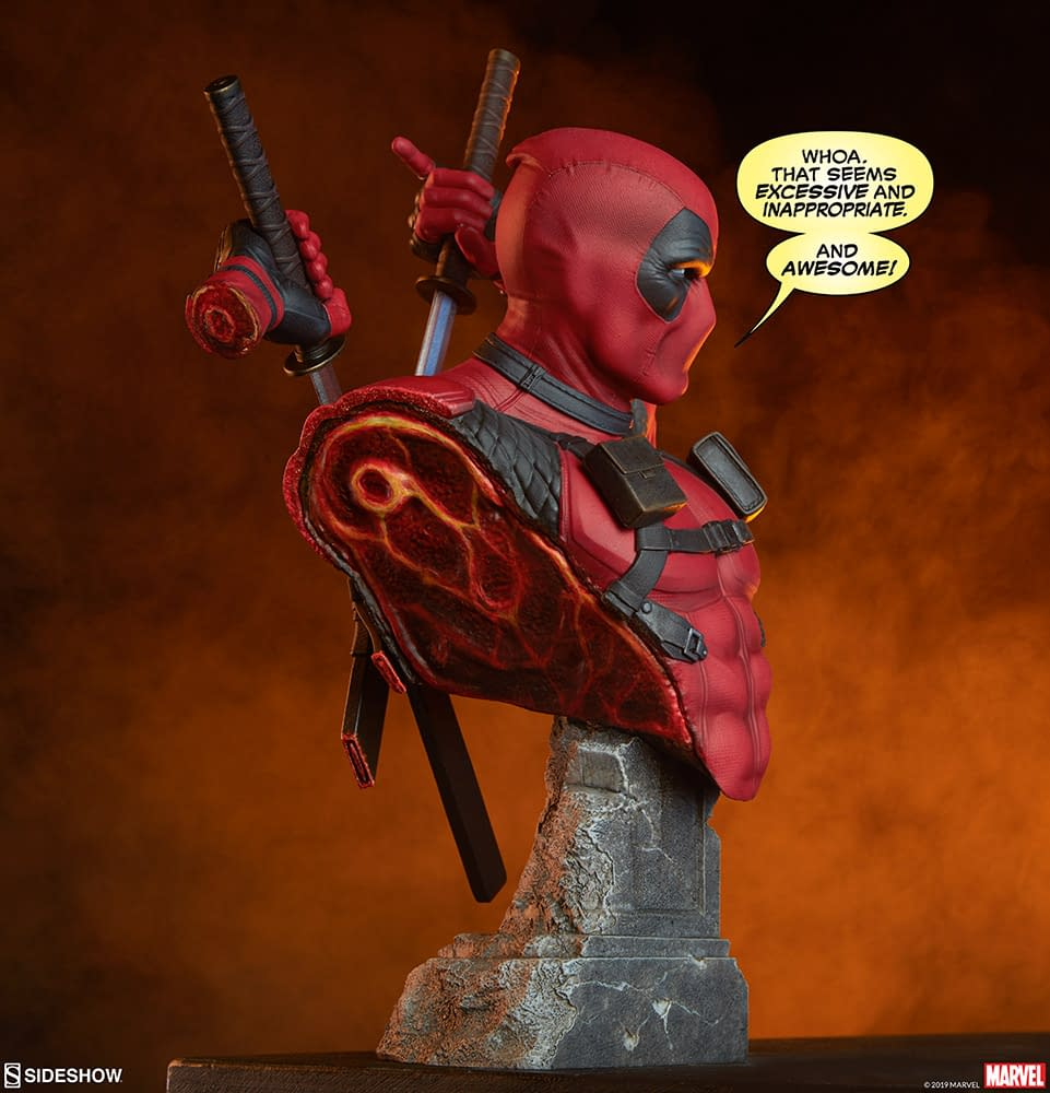Deadpool Shows It All with New Bust By Sideshow Collectibles