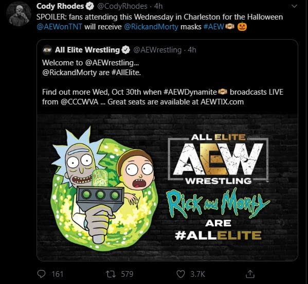 """""""Rick and Morty"""" Turn """"Hype Men"""" for AEW's Best Friends, Orange Cassidy [VIDEO]"""