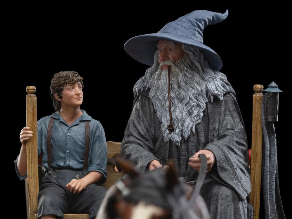 Gandolf and Frodo Head to The Shire in Weta Workshop Statue