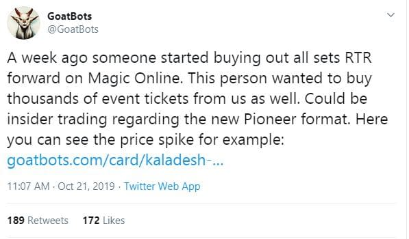 """On the Pioneer Format (and Early Price Spikes) - """"Magic: The Gathering"""""""