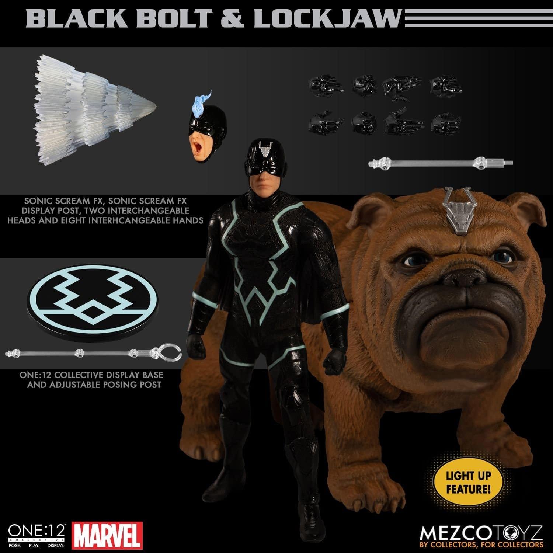 Black Bolt & Lockjaw Return From Attilan With A New Mezco Figure