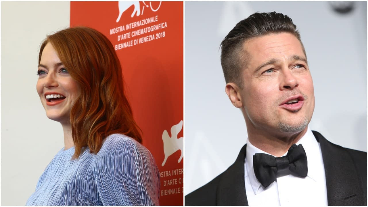 "Brad Pitt and Emma Stone Negotiating to Star in Damien Chazelle's ""Babylon"" at Paramount"