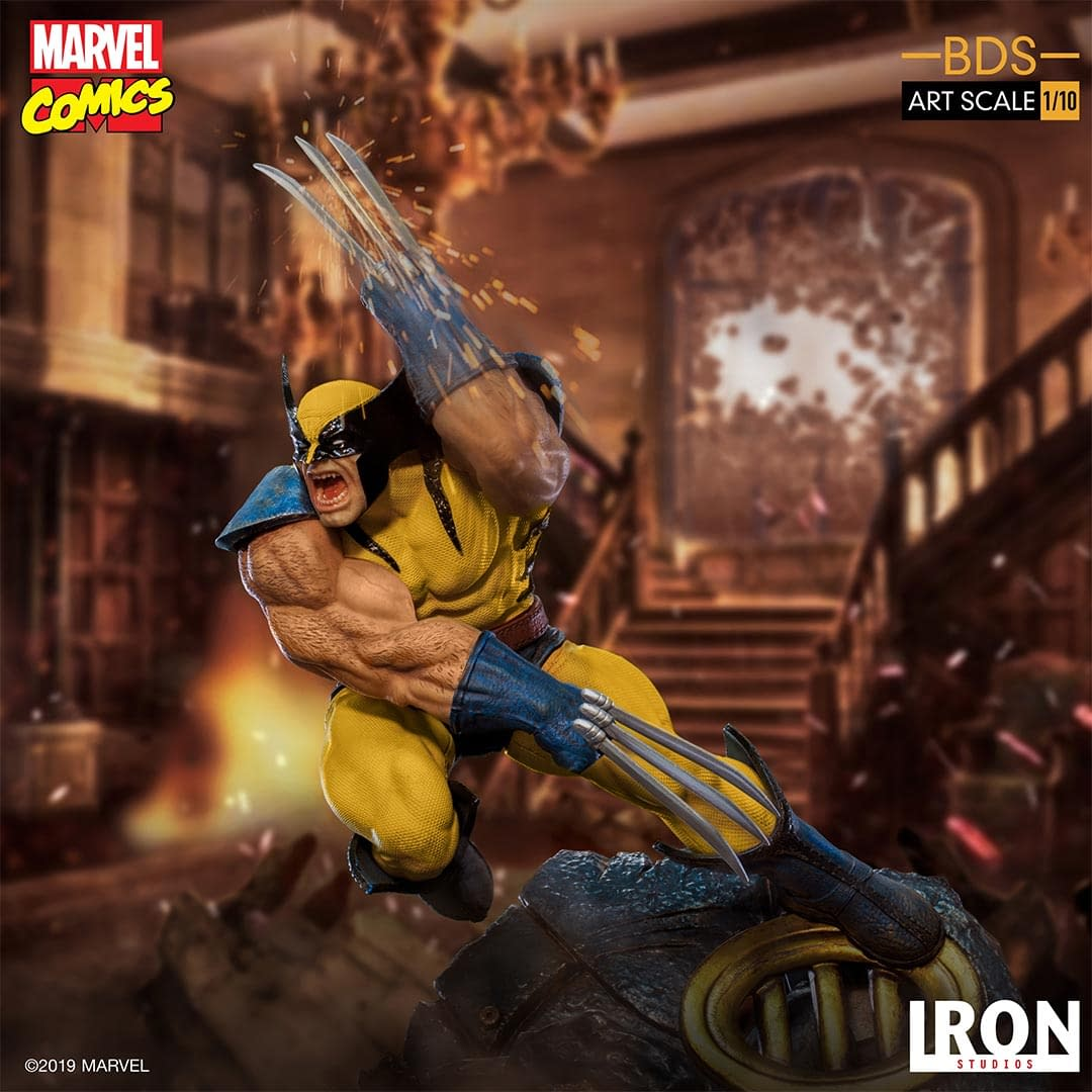 Wolverine Slashes His Way with New Statue from Iron Studios