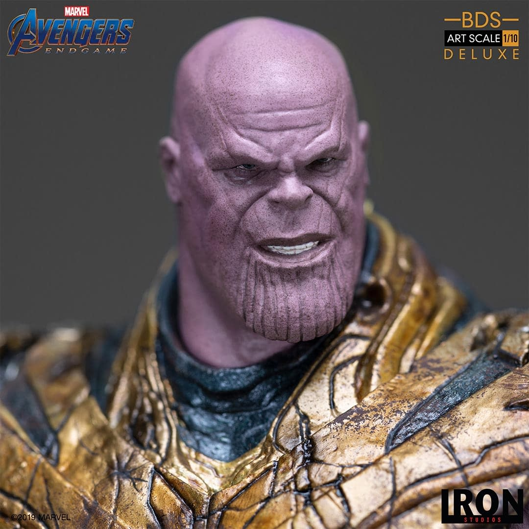 Thanos Is Inevitable with New Statue from Iron Studios