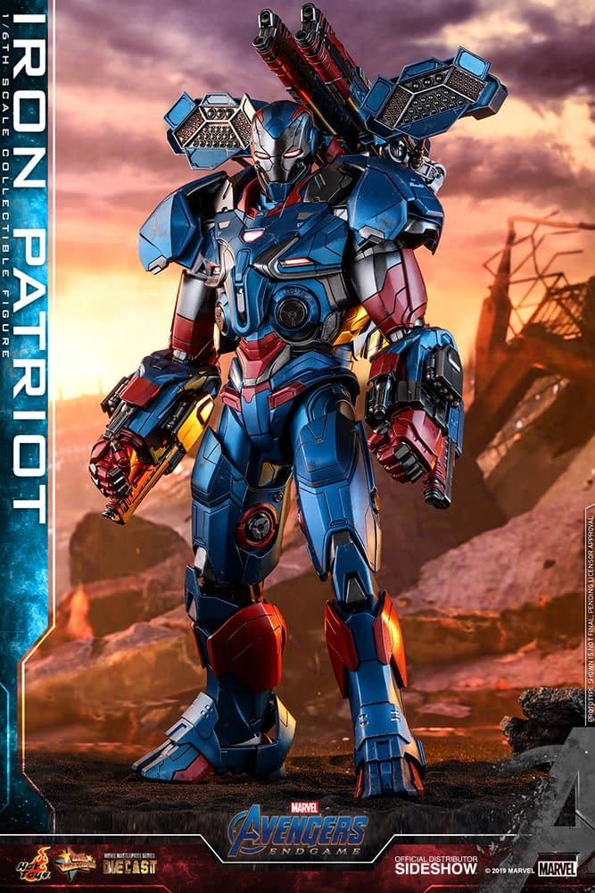 Iron Patriot Hot Toys Figures Gets a Updated New Head [First Look]