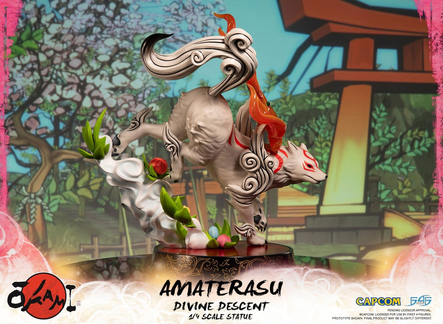 """""""Okami"""" Gets Divine with Her New First 4 Figures Statues"""