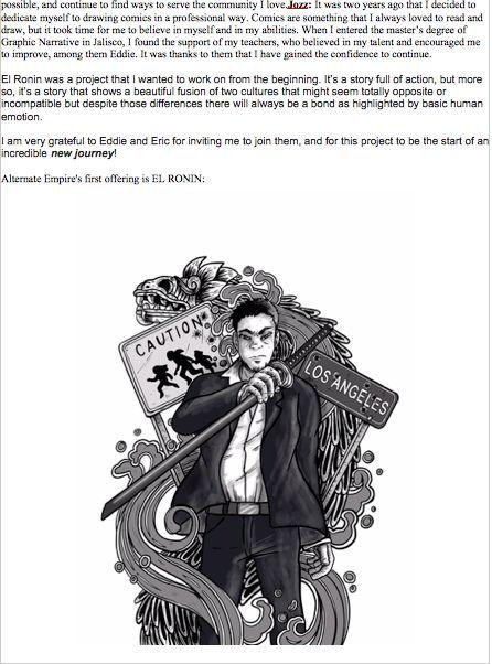 Eric M Esquivel and Eddie Berganza Launch New Comics Line. Yup.