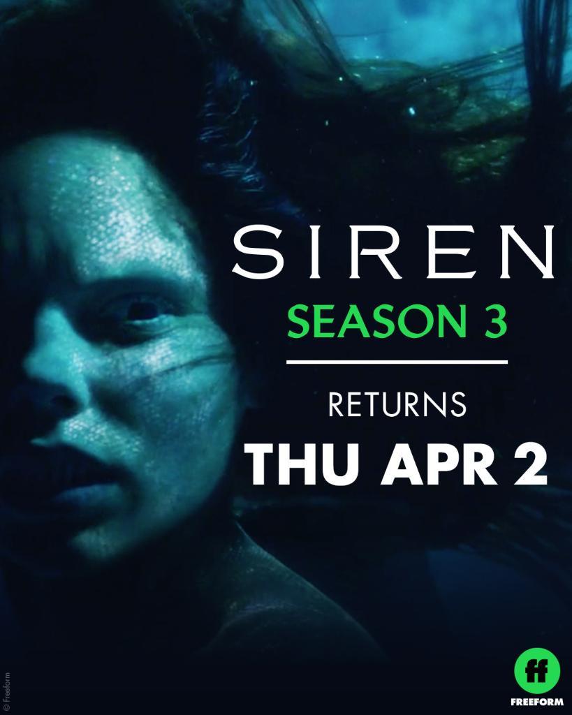 """Siren"" Season 3 Sets April Premiere; Freeform Releases Preview Image, Key Art"