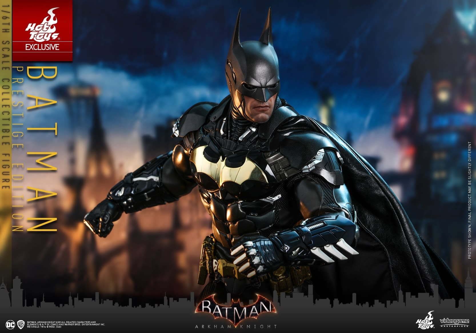 """Batman Goes Gold With New """"Arkham Knight"""" Hot Toys Figure"""