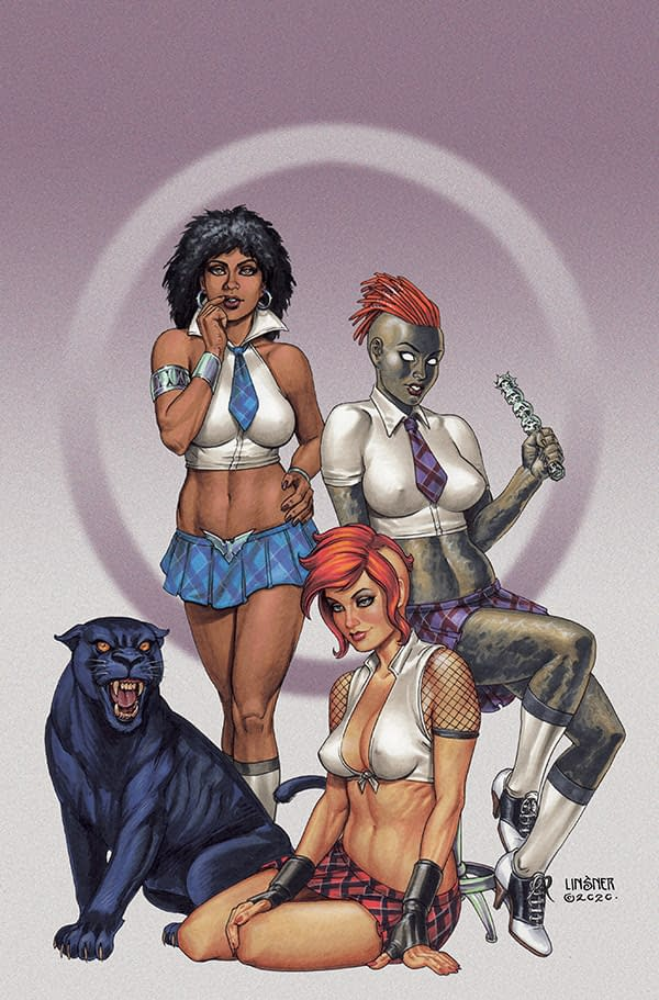 """Bring On The Bad Girls – """"sacredsix"""" Sees Priest Crosses Over Vampirella, Pantha, Chastity, Nyx in Spin-Off Series From Dynamite in May"""