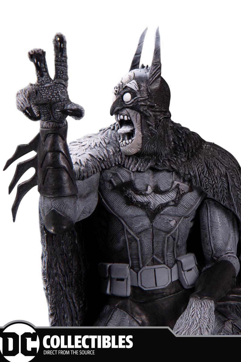 Black and White Batman Monster Statue