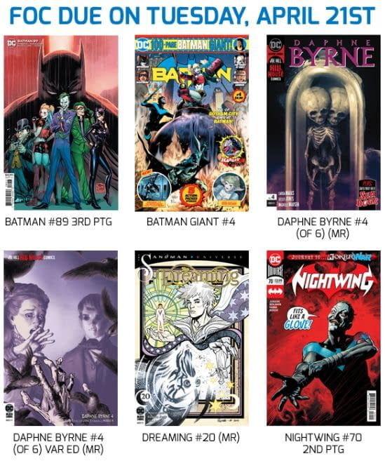Retailers Have Three FOC Dates in One Week for DC Comics Via UCS.
