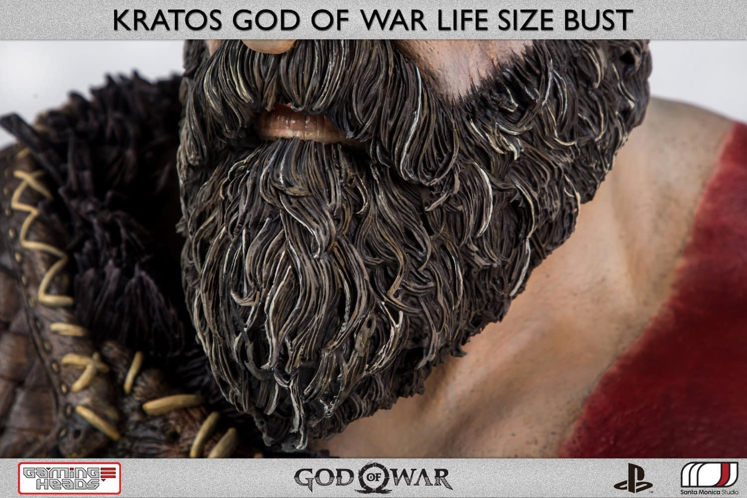 God of War Kratos Life Size Bust from Gaming Heads