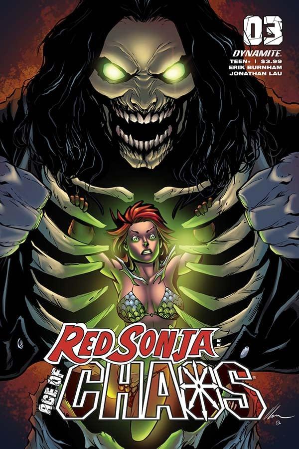 Erik Burnham, writes on Red Sonja Age of Chaos #3