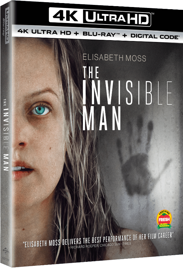 The cover of the home release for The Invisible Man due out on May 26th.