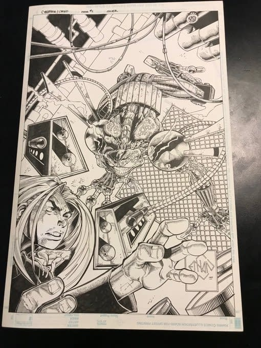 Tim Seeley Adds Cyberfrog to #ComicWritersChallenge