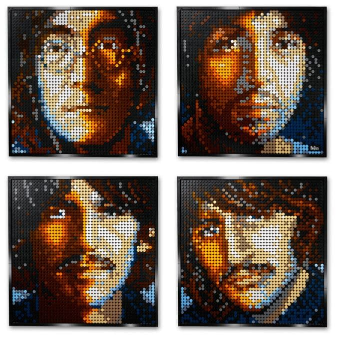The Beatles and Marilyn Monroe Become Buildable Art with LEGO