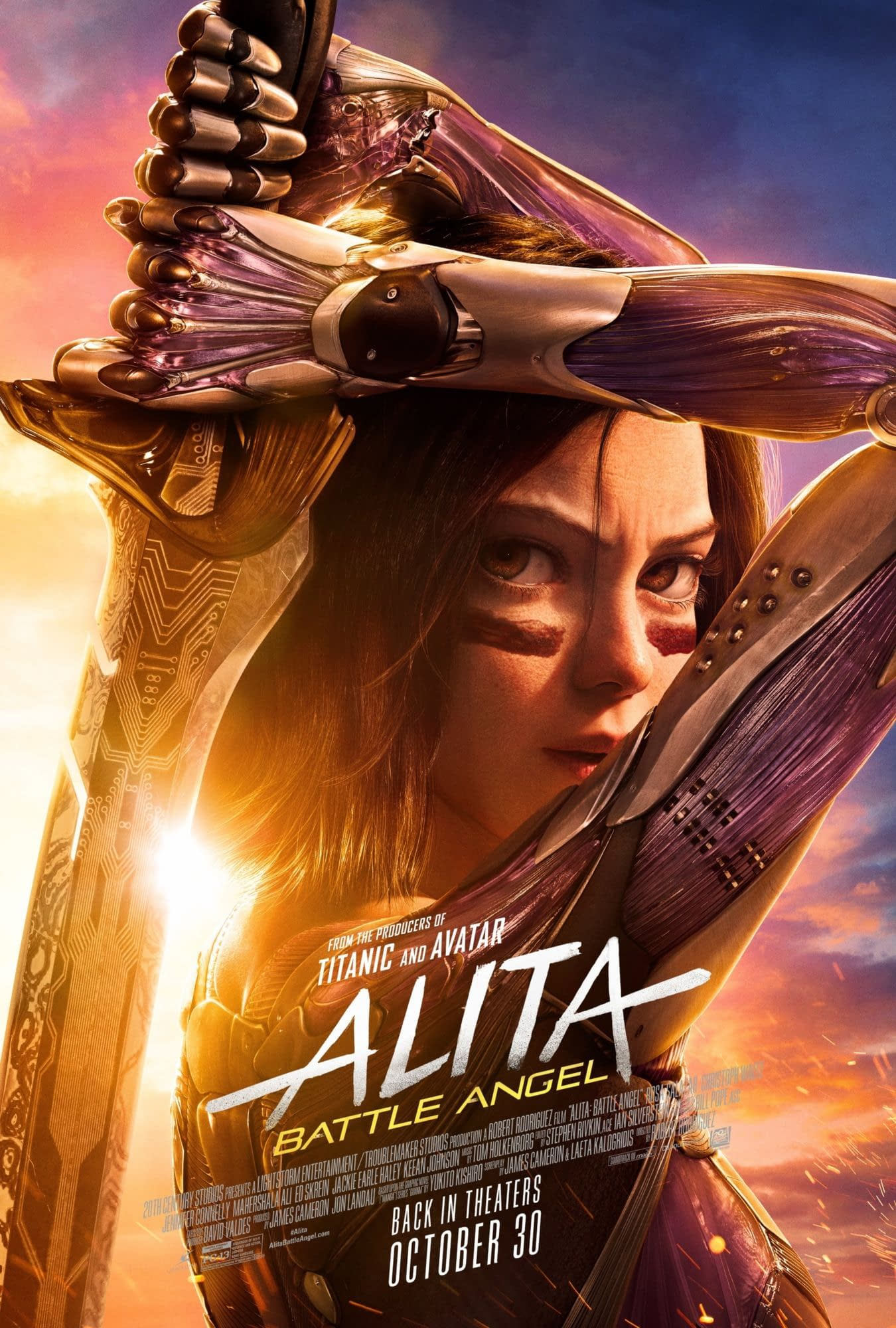 A New Alita Battle Angel Poster Has Dropped For The Rerelease