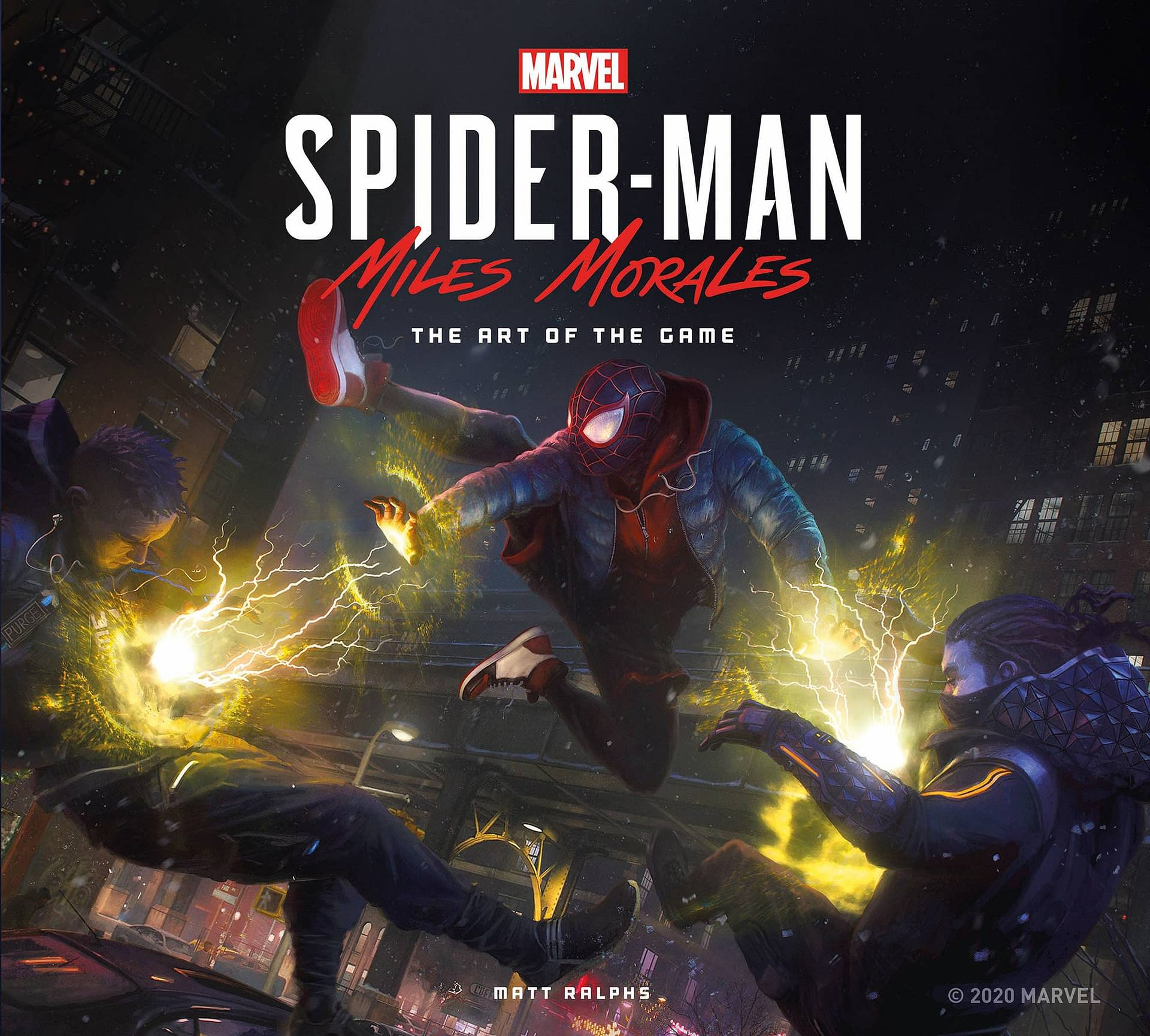 MARVELS SPIDER MAN MILES MORALES ART OF GAME HC