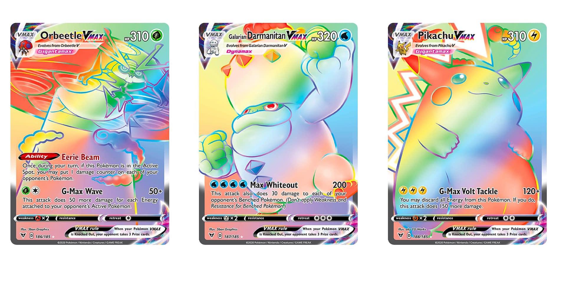 The Rainbow Rare Cards Of Pokemon Tcg Vivid Voltage Part 1