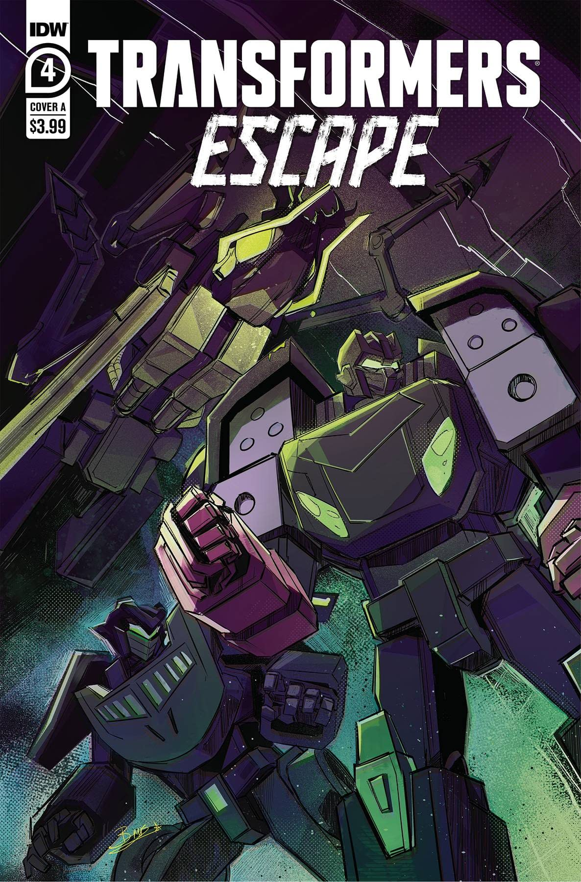 TRANSFORMERS ESCAPE #4 (OF 5) CVR A MCGUIRE-SMITH