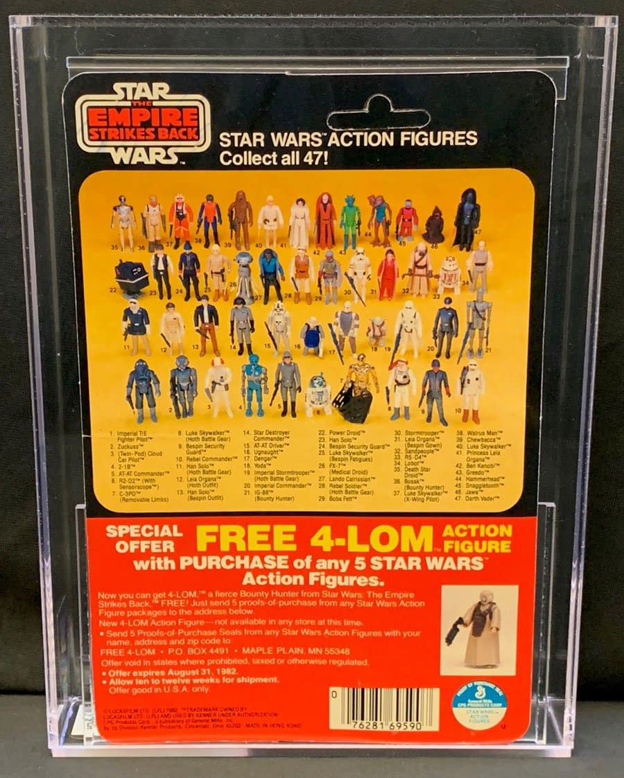 Star Wars Fav Han Solo Kenner 47 Back On Auction At Comic Connect