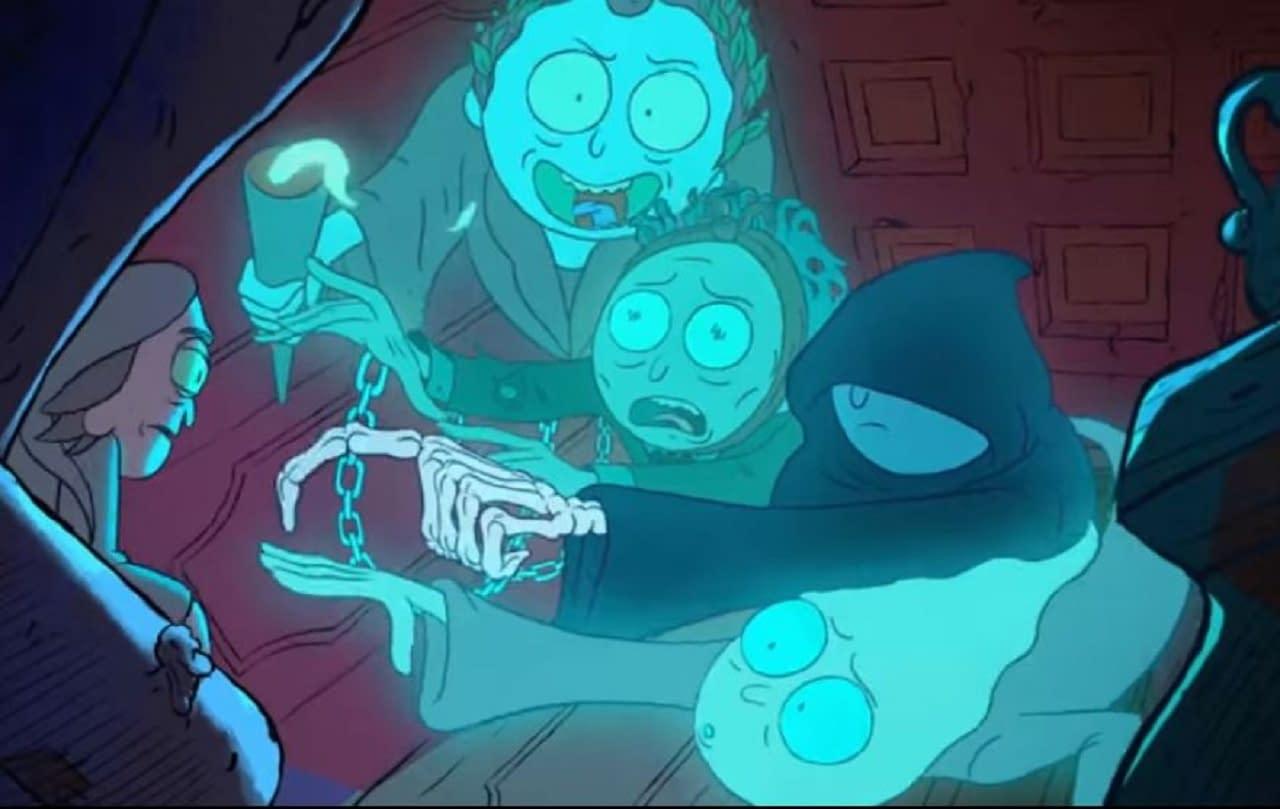 """Rick não tem medo de fantasmas na nova promo de férias """"Rick and Morty"""" 1"""