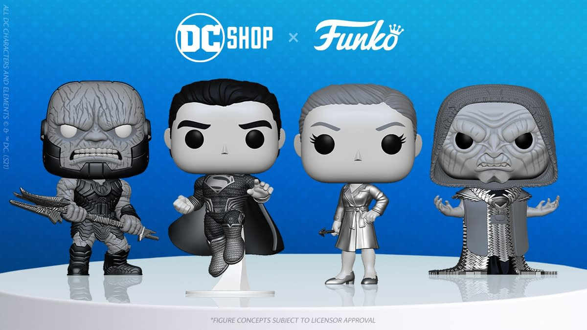 Snyder Cut Justice League Black and White Funko 4-Pack Revealed