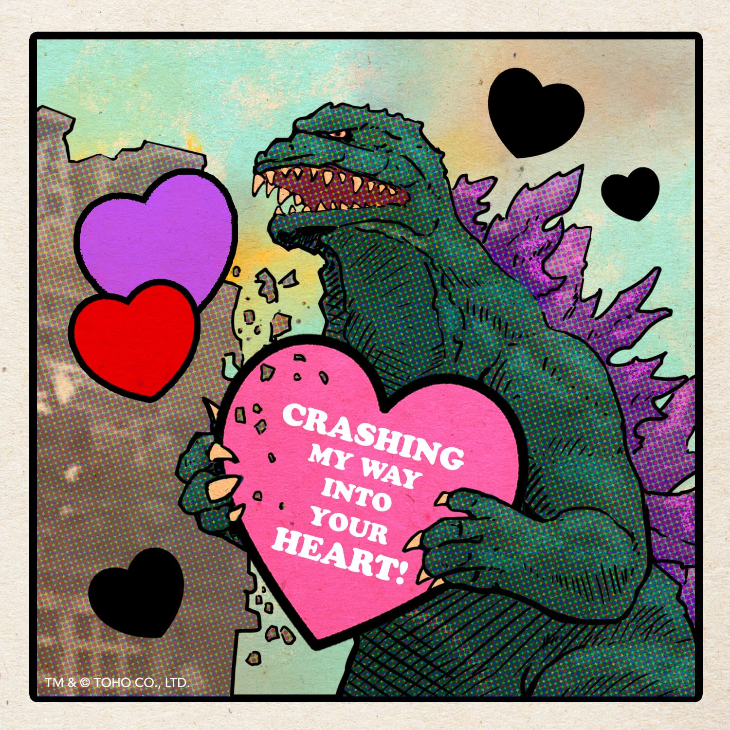 Tell Them You Love Them With A Godzilla Valentine's Day Card
