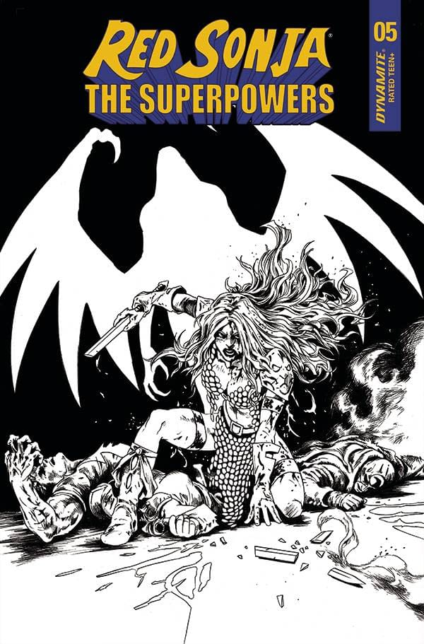 RED SONJA THE SUPERPOWERS #5 10 COPY LAU B&W INCV