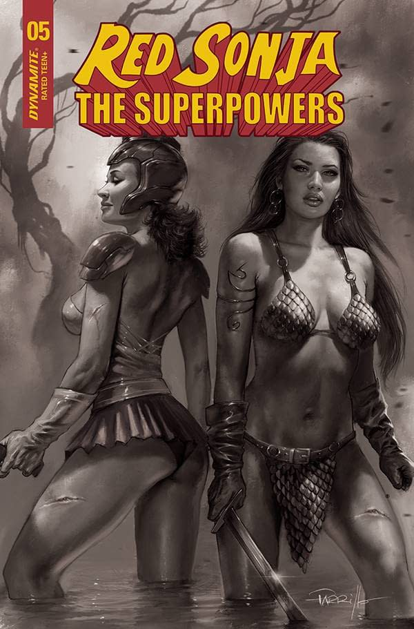 RED SONJA THE SUPERPOWERS #5 30 COPY PARRILLO B&W INCV