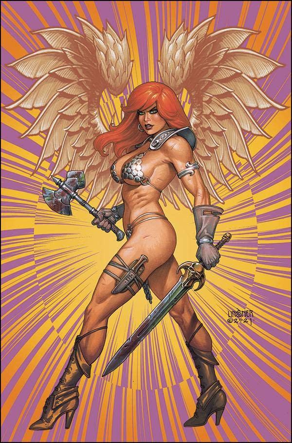 RED SONJA THE SUPERPOWERS #5 LINSNER LTD VIRGIN CVR