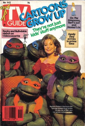 TV Guide March 1991 Cover TMNT
