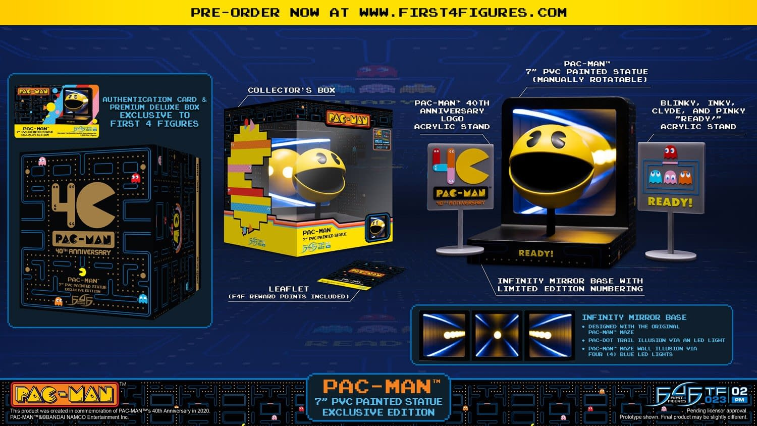 Pac-Man Goes Three Dimensions With New First 4 Figures Statue