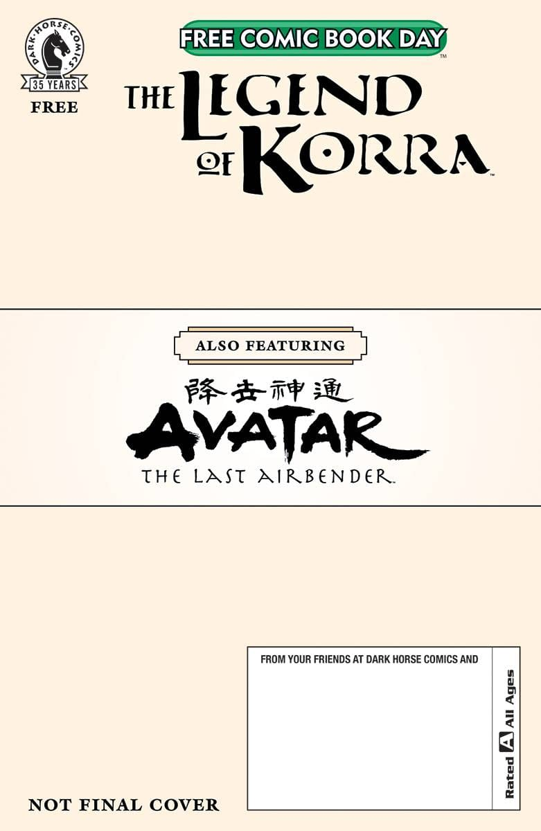 FCBD 2021 AVATAR LAST AIRBENDER LEGEND OF KORRA