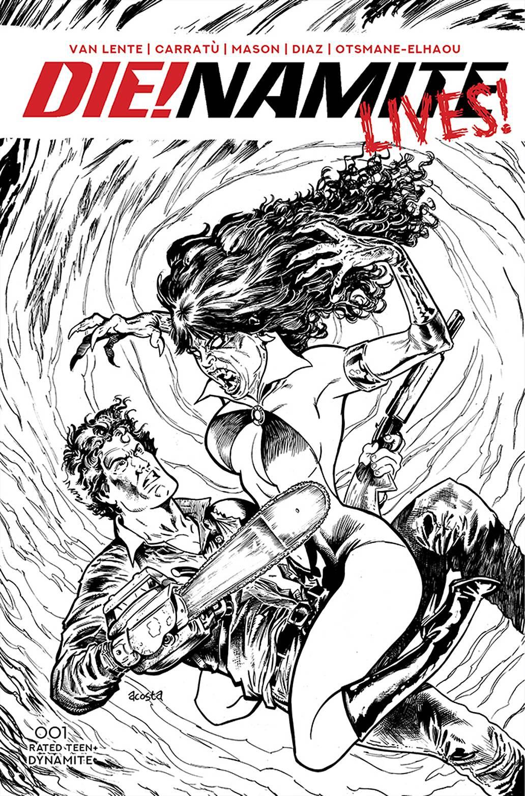 DIE!NAMITE LIVES #1 10 COPY ACOSTA PENCIL ART INCV