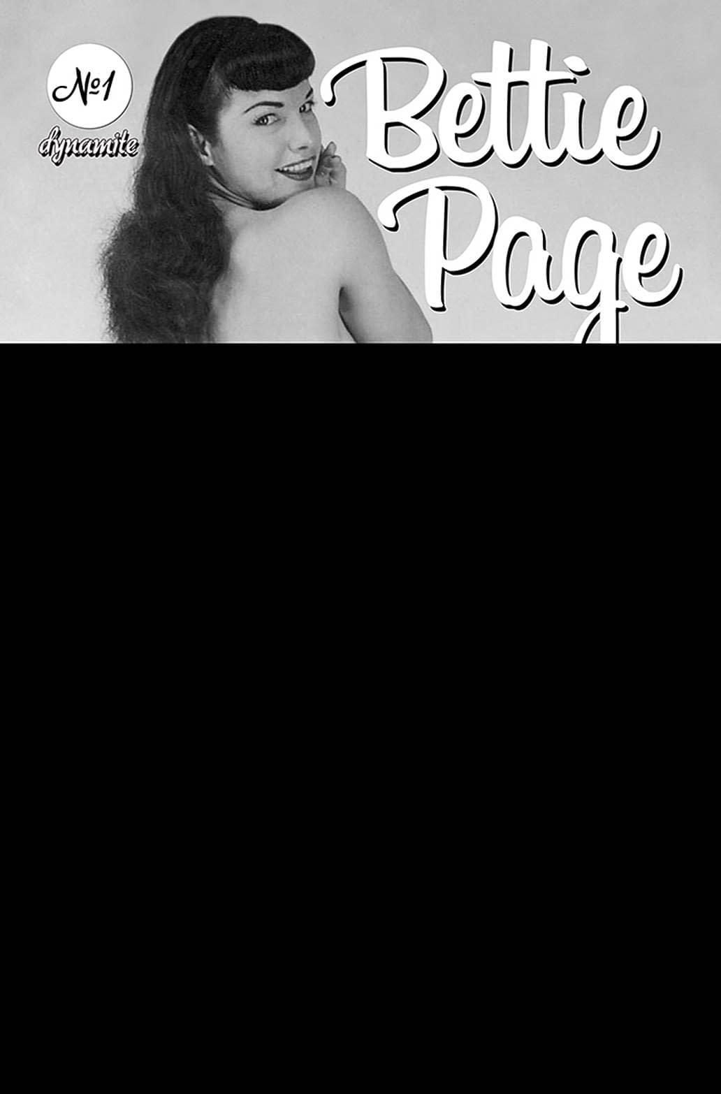 BETTIE PAGE & CURSE OF THE BANSHEE #1 BLACK BAG PHOTO CVR (M