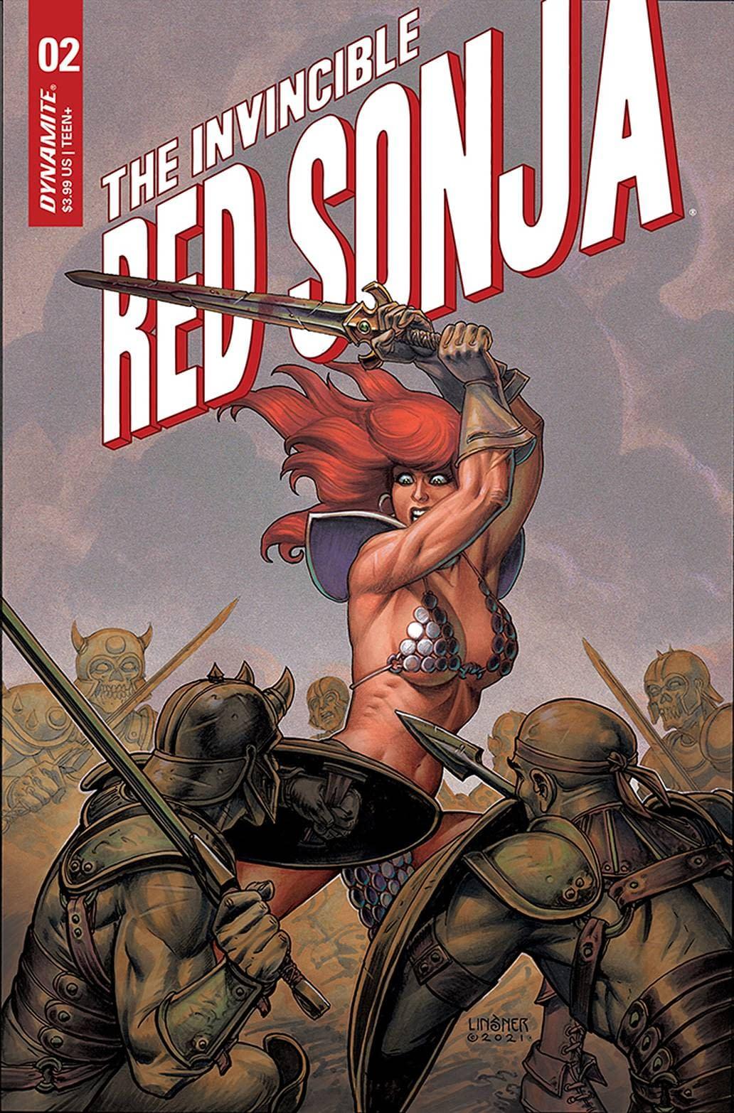 INVINCIBLE RED SONJA #2 CVR B LINSNER