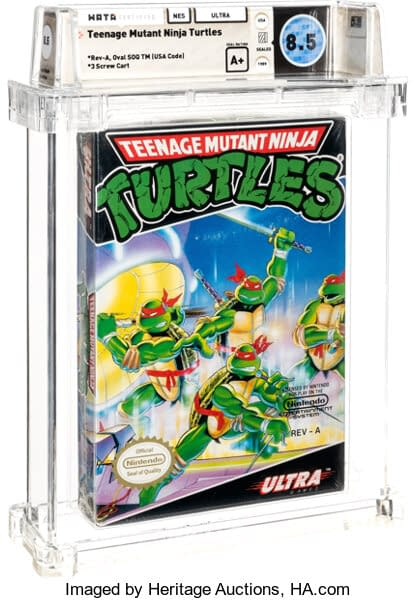 TMNT NES Game On Auction At Heritage Auctions